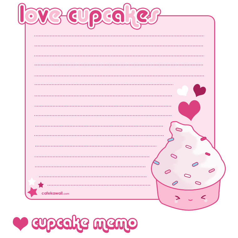 Free Printable Images Of Cupcakes : Cupcake Memo Sheet by riaherod on DeviantArt