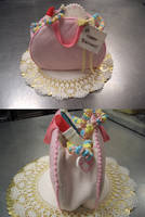 Pink Purse Cake by stringy-cow