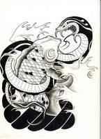 Snake'n'Koi by leCCio