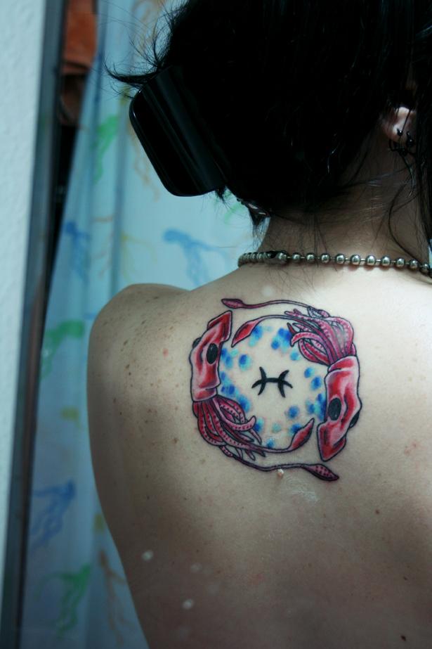 Pisces Tattoo - shoulder tattoo
