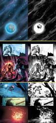 Random Bionicles with lineart by GarryHenderson