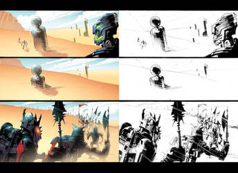 Random Bionicle 4 with lineart by GarryHenderson