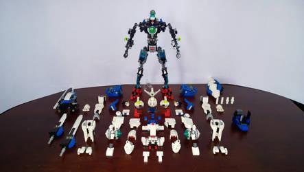 LEGO Gundam Exia Frame GN-001 by demon14082000