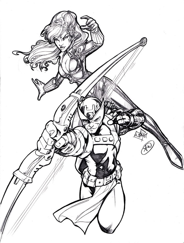 Download Avengers Coloring Pages Here Blackwidow: Hawkeye And Black Widow By AdamWithers On DeviantArt