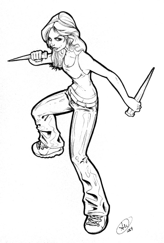 Buffy by adamwithers on deviantart for Buffy coloring pages