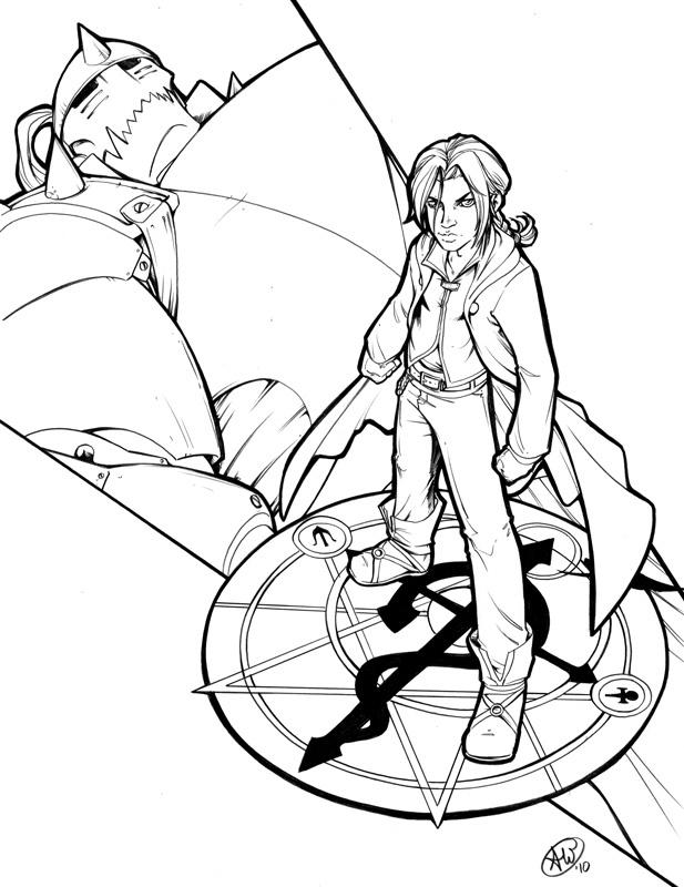 Fullmetal Alchemist Brotherhood Coloring Pages