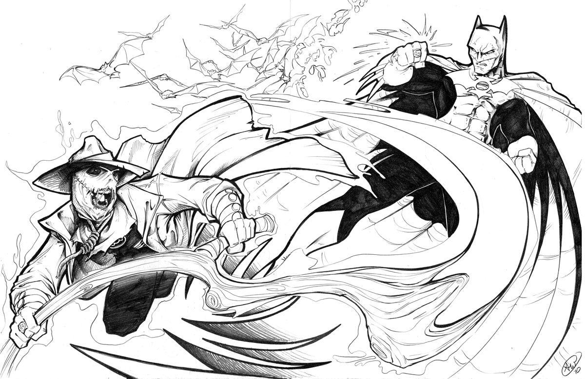 GL Batman vs SC Scarecrow by AdamWithers on DeviantArt