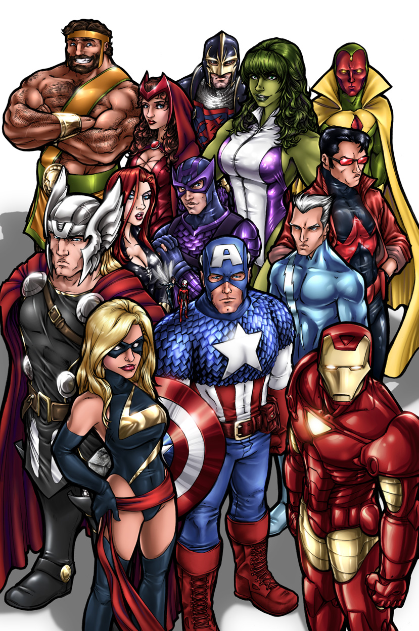 Must see Wallpaper Marvel Vintage - avengers_by_adamwithers-d39tsdr  Gallery_995114.jpg