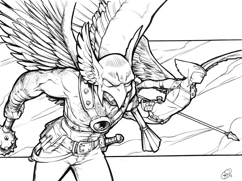 Hawkman Coloring Pages Coloring Pages