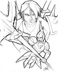 Ronin Warriors: Cye and Sekhmet