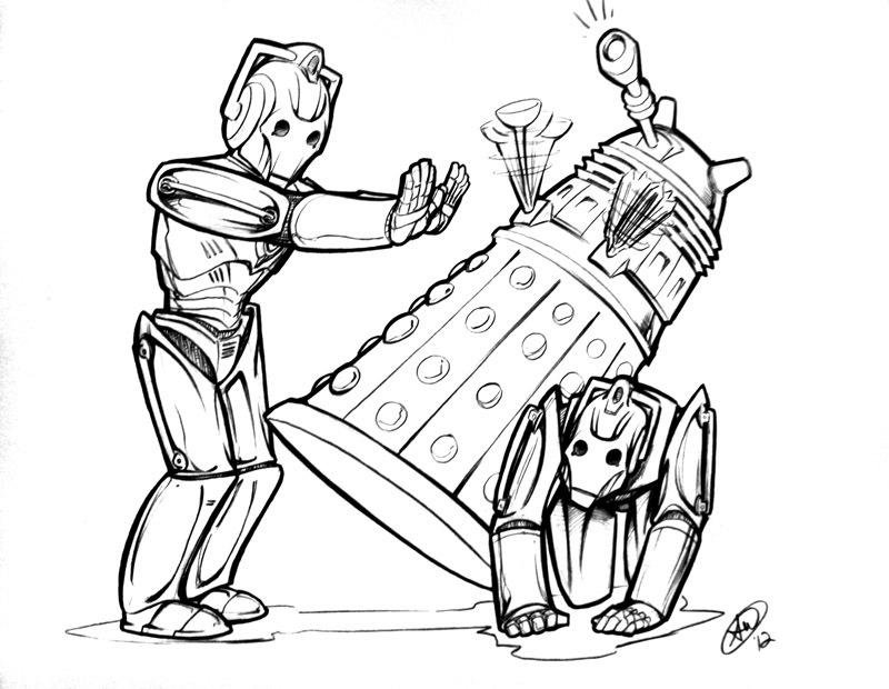 Cybermen vs. Daleks by AdamWithers