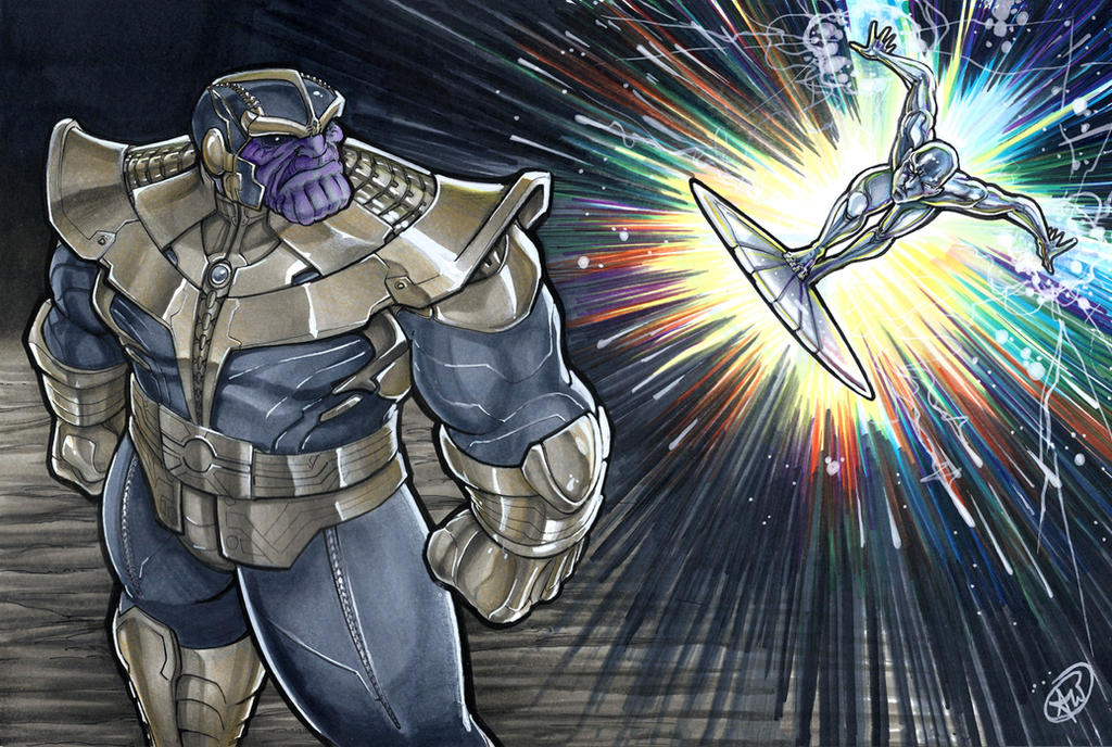 Thanos vs Silver Surfer by AdamWithers on DeviantArt