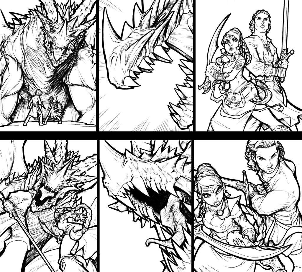 Panel Comparisons - Fantasy by AdamWithers