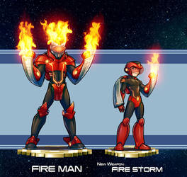 MMRedesign: DLN-007 Fire Man by AdamWithers