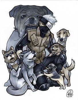 Kakashi and the Ninja Pups