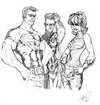 Superboy, Robin, Wonder Girl