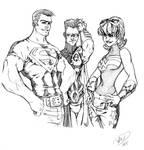Superboy, Robin, Wonder Girl