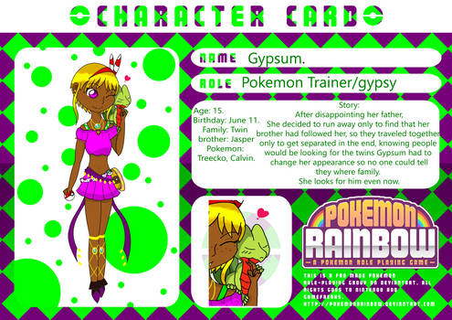 Gypsum's character card