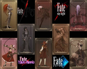 Type-moon Fate Servant's Card