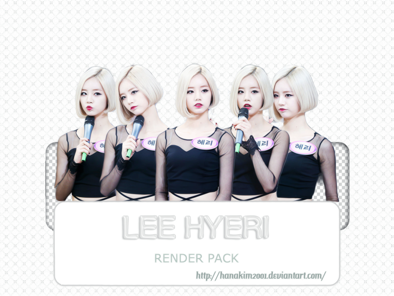 Renderpack #14: HyeRi (Girl's Day) by HanaKim2001