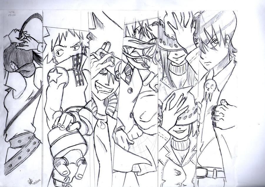 Soul Eater Characters by cak04