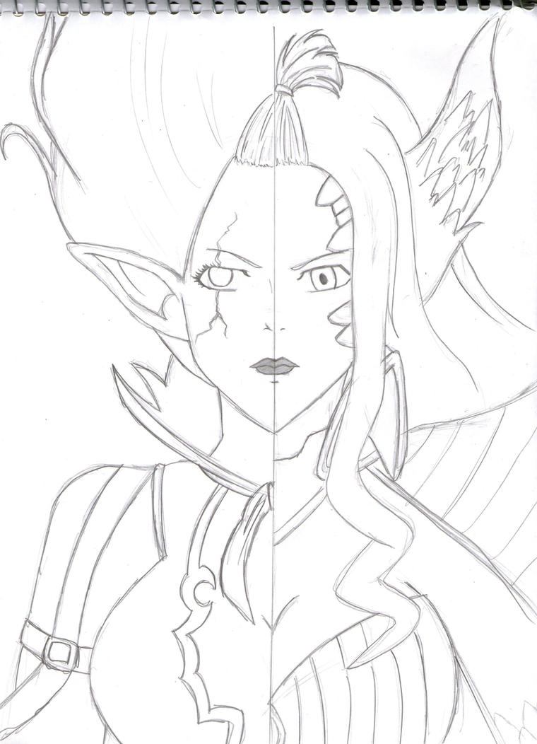 Mirajane's Satan Soul x Halphas by cak04