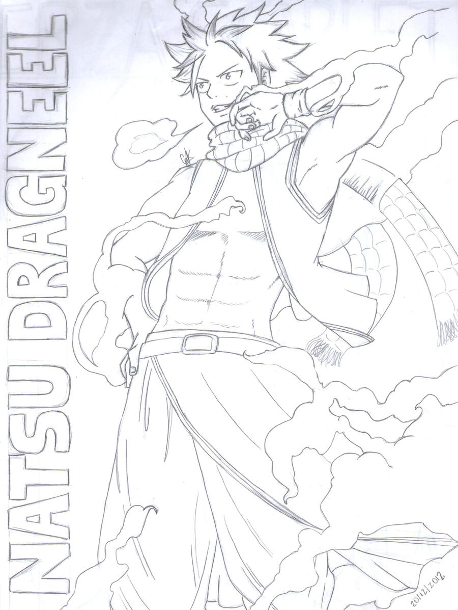 Natsu Dragneel by cak04