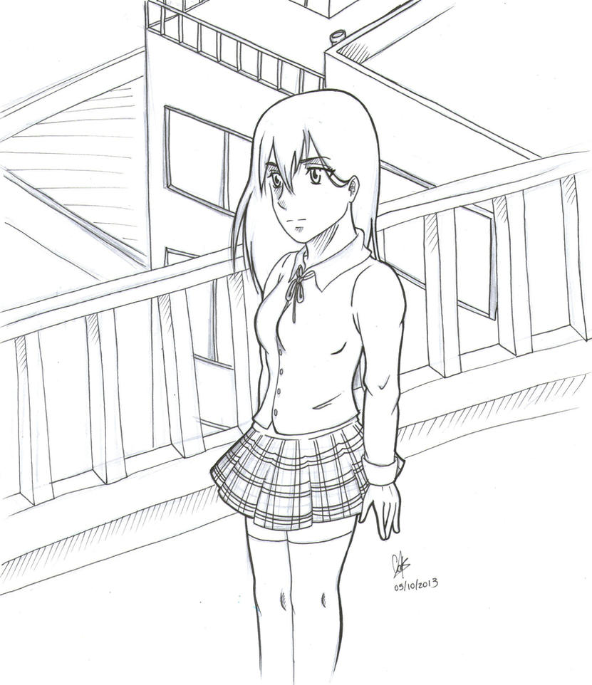 Astrid School Girl by cak04