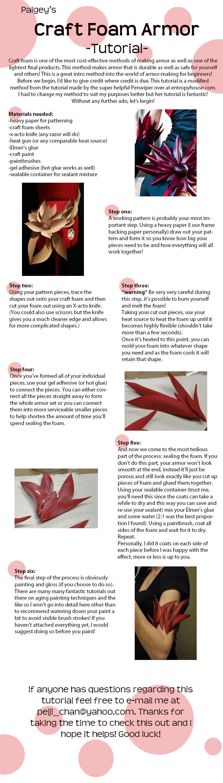 Craft Foam Armor Tutorial by MissCordie