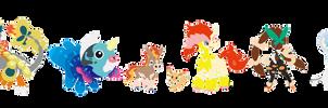 [open] So Many Pokemon Hybrid Adopts!