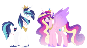 Levioverse- King Shining Armor and Queen Cadance by leviostars
