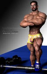 Random Muscle Hunk 1 by GreysonFurrington