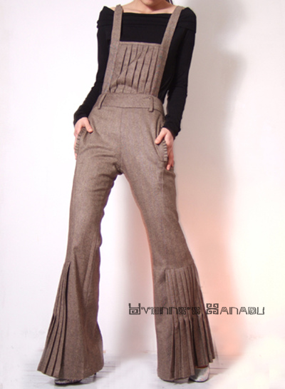 Sandy Wool Wide Leg Jumpsuit by yystudio