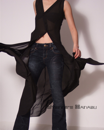 Black Sheer Chiffon Long Dress by yystudio