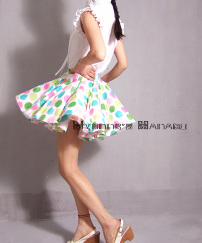 Polka Dots Mini Skirt by yystudio