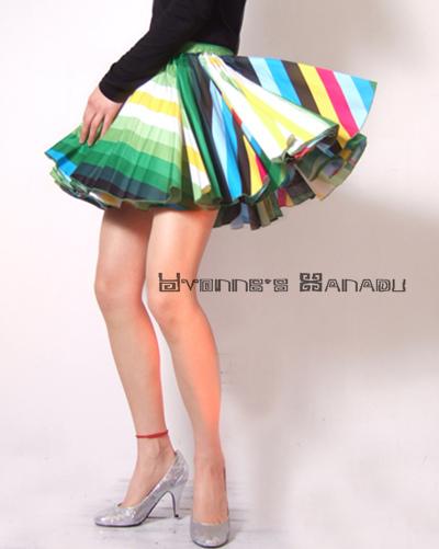 Rainbow Mini Skirt 2 by yystudio