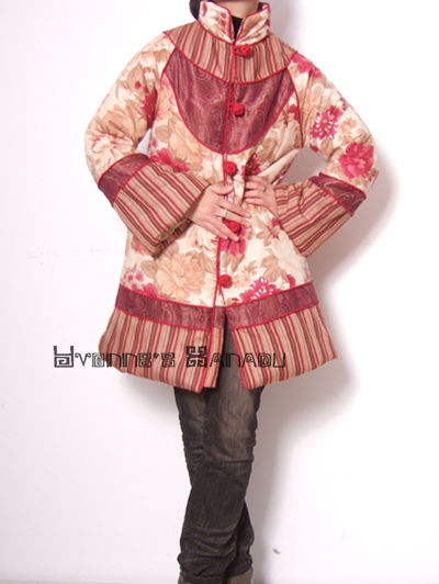 Red Orange Pink Cotton Coat 2 by yystudio