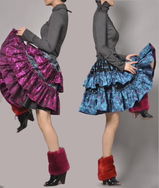 Purple broade full skirt 4 by yystudio