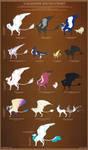Galahawk Species Chart v2.0