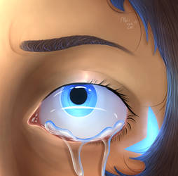 Lance's eye- digital painting by MuiiTheCat