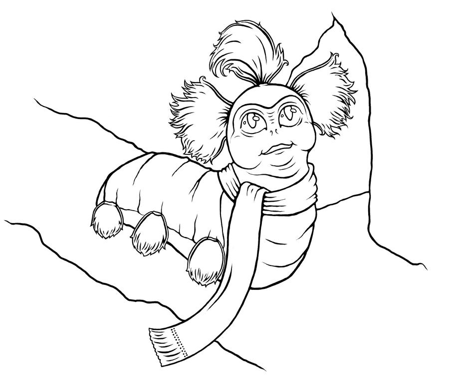 Just A Worm Lineart by bdunn1342 on DeviantArt Labyrinth Movie Tattoo