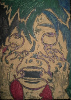 Self Portrait: Linoleum Block