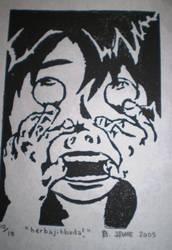 Self Portrait: Block Print
