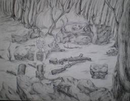 Pen and Ink Landscape