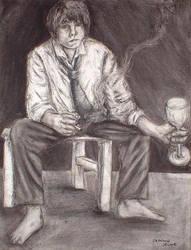 Self-Portrait: Charcoal
