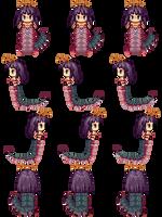 Oomukade Monster Girl Sprite by Mireus