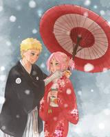 Naruto and Sakura Happy New Year