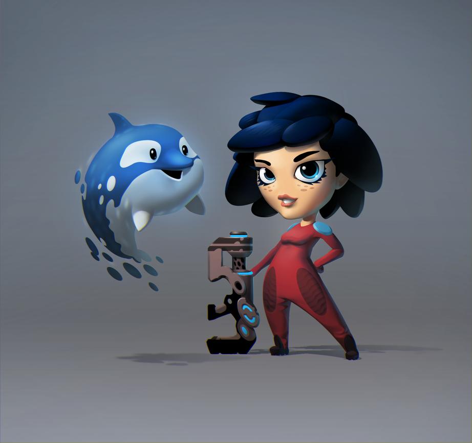 Platformer character by Valtsu