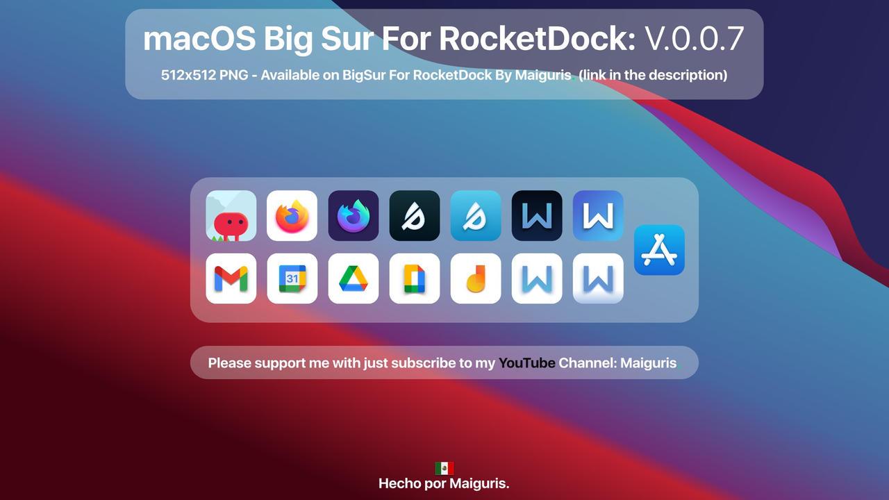 macOS Big Sur For RocketDock: V.0.0.7 Added Icons