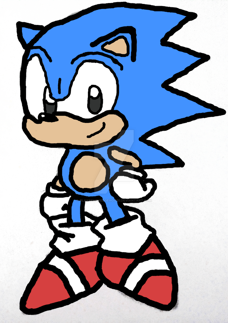 Sonic The hedgehog by Blakethehedgehog20